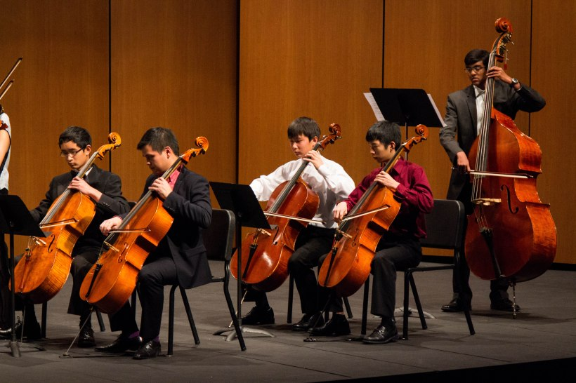 The low strings section, led by CMB teaching artist Tobin Low at our 2013 Side-by-Side Project Concert.