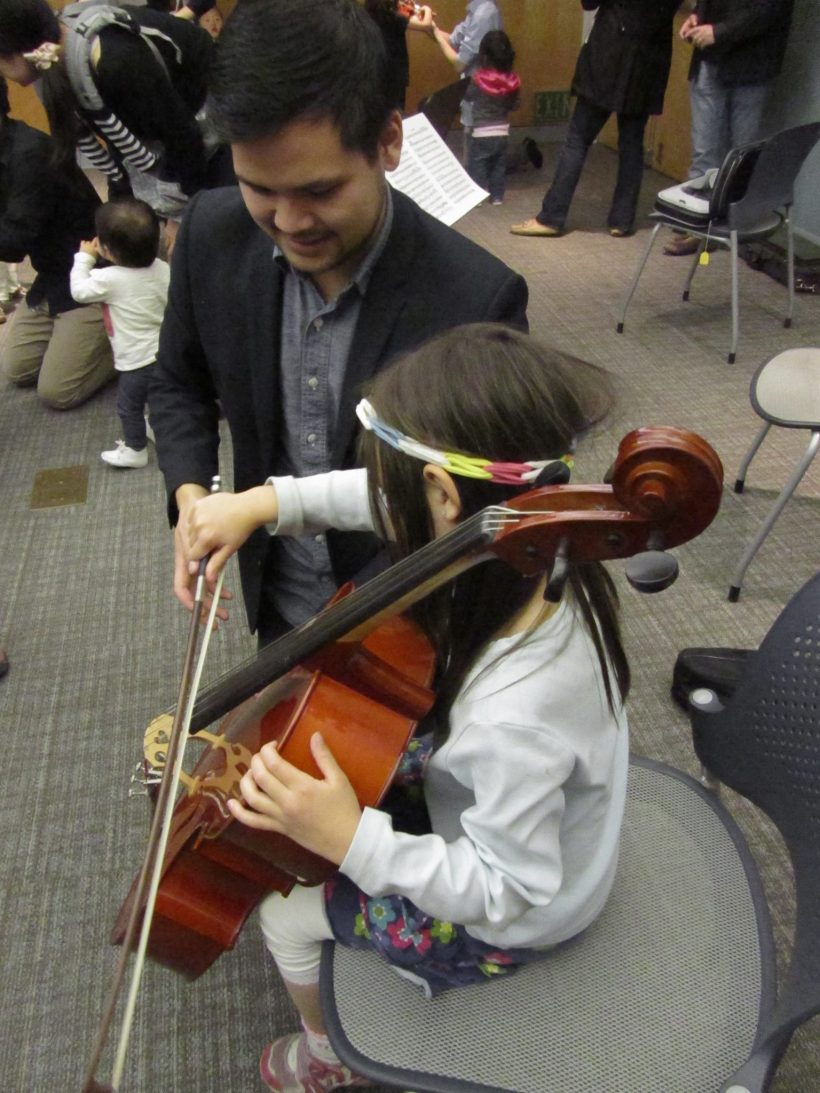 Cello Petting Zoo at the Los Altos Library with Tobin Low!