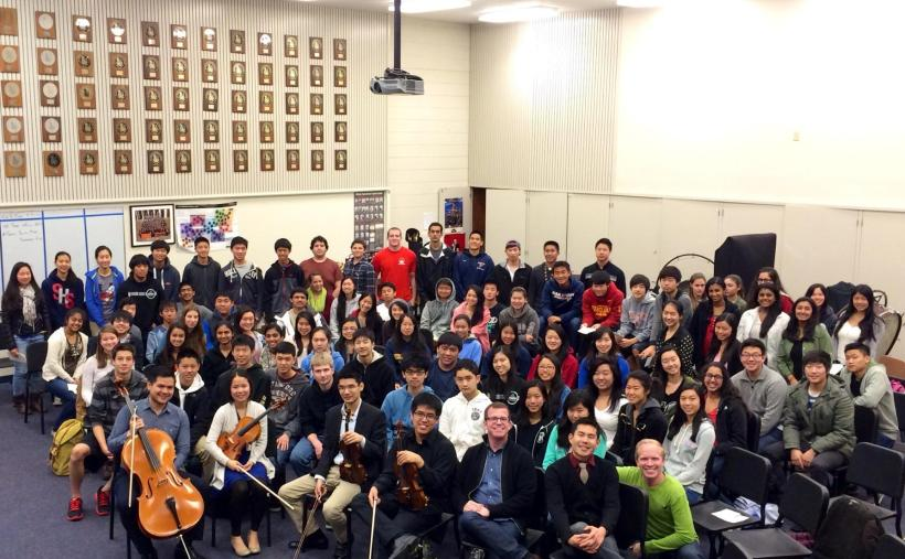 With the Saratoga High School String Orchestra and Chamber Choir!
